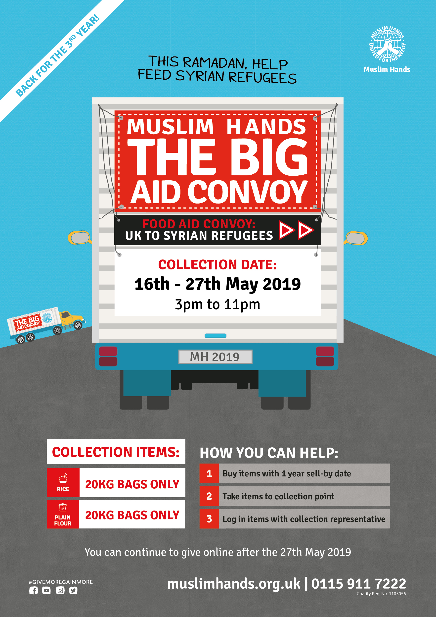 The Big Aid Convoy 2019: UK to Syrian Refugees | Muslim Hands UK